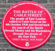 They Shall Not Pass! Battle of Cable Street 80th Anniversary Cabaret Special