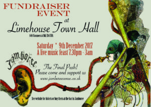 Jamboree: The Final Push - Fundraising Party at Limehouse Town Hall, Saturday Dec 9th